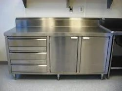 Stainless Steel Kitchen Cabinet, For Residential, Commercial