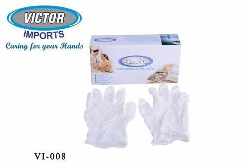 Diamond White Surgical Disposable Gloves Dahanu Rubber