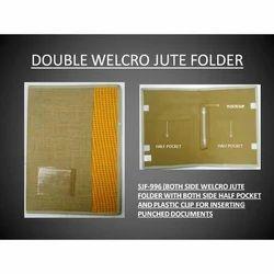 Double Velcro Jute Conference Folder