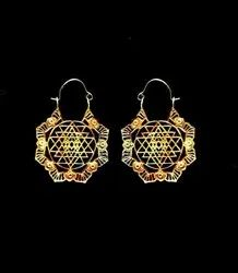 Brass Earring With Gold Finishing