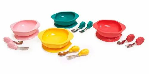 Silicon Round Toddler Mealtime Set For Home