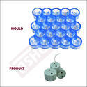 Round Cover Block Mould for Slab - 40mm (23 Cavity) With 2 Holes - 50mm Diameter