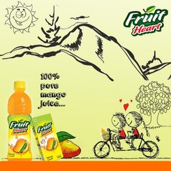Bottle Fruit Heart Mango Juice, 1 Pack Contains: 24 Pieces, Packaging Size: 1000 ml