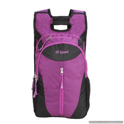 Nylon And Printed School Polyester Backpack Puple  e278b8f508111