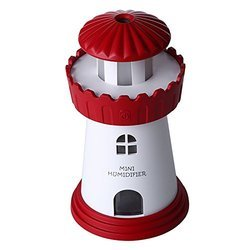 Lighthouse Cool Mist Humidifier No Noise LED Desktop Nightlight Auto Safety Shut-Off Humidifier
