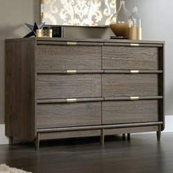 Wooden 6 Drawer Grey Designer Cabinet