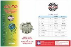 Alfa Brand Induction Motor Single Phase And Three Phase