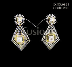 218de78e5 American Diamond Earrings - Cubic Zircon American Diamond Earring ...