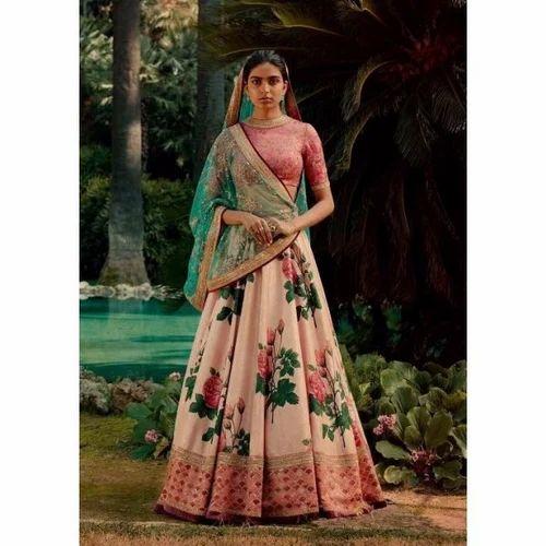 1c3f8e069d Banglori Silk Gajari Color Choli & Twill Lehenga, Rs 3999 /piece ...