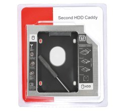 Compatible Second HDD Caddy, Packaging Type: Proper Packed