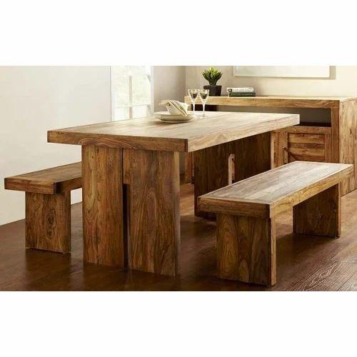 Solid Wood Dining Table Bench Set At Rs 18000 Set Vishwakarma Nagar Jodhpur Id 19102481730