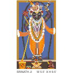 Lord Krishna Glass Mosaic Mural