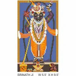 Lord Krishna Glass Mosaic Mural