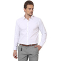 Mens White Plain Shirt