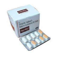 Daxia Healthcare Glimepiride Voglibose And Metformin HydroChloride SR Tablets, 10x10