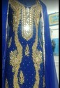 Blue Embroidery Suit
