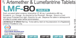 LMF 80 Artemether and Lumefantrine Tablets