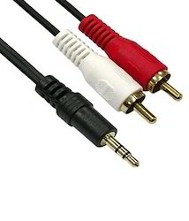 Stereo Male to 2 RCA Male 1.5 Mtr Cable