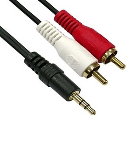 Black Copper AISWIA Stereo Male to 2 RCA Male 1.5 Mtr Cable