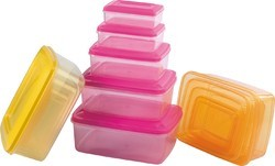 Rectangular Plastic Storage Container Crystal Water Colour