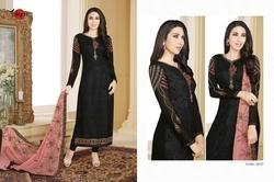 Embroidered Black Palak Salwar Suit