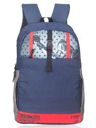 Navy Blue Red Liberty Laptop Backpack Bag