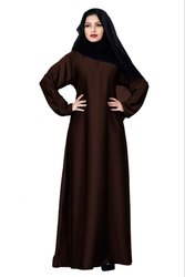 Plain Nida Abaya Burka With Chiffon Hijab Scarf For Women
