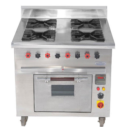 Aarul 4 Continental Cooking Range, For Restaurant