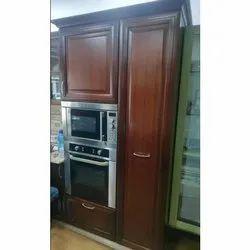 Wooden Brown Modular Kitchen Cabinet