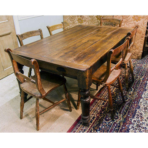 Antique Wooden Dining Table Set