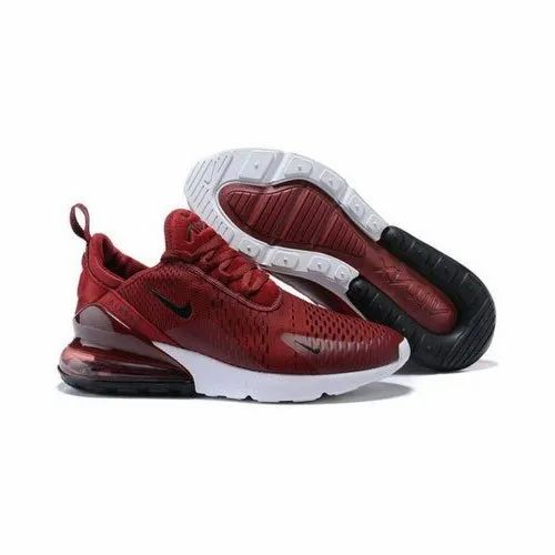 Men Red Nike Air Max 270 Sports Shoes