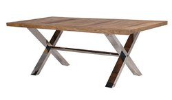 Steel,Wooden Rectangular Restaurant Table, Seating Capacity: 4 Person