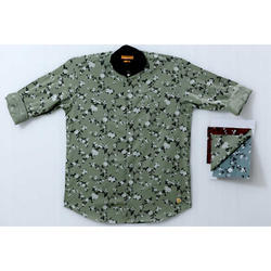M And L Cotton Mens Floral Printed Shirt