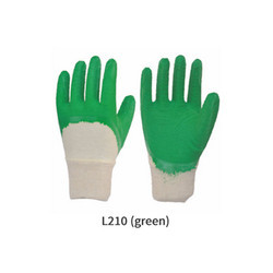 Cotton Supported Cut and Sewn Moire Finish Latex Coating Gloves