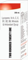 Lycopene Vit A , C , E B1 B2 B6 Minerals & Antioxidant Syrup