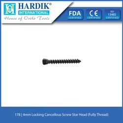 4mm Locking Cancellous Screw Star Head (Fully Thread)