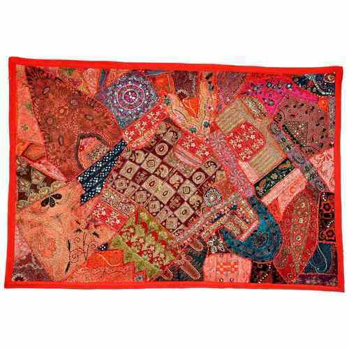 Multicolor Little India Jaipuri Traditional  Patchwork Hanging 534