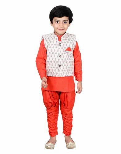 cbab9b80a1fe Ahhaaaa's Kurta Dhoti Pant With Waistcoat For Boys, Children Dhoti ...