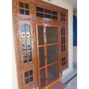 Brown Aluminium Mesh Foding Door, Size/dimension: 6 To 7feet