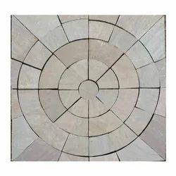 Raj Green Circle Stone, Slab, for Flooring