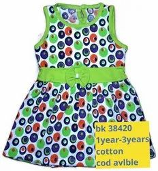 Printed Colourful 1-3 Years Frock