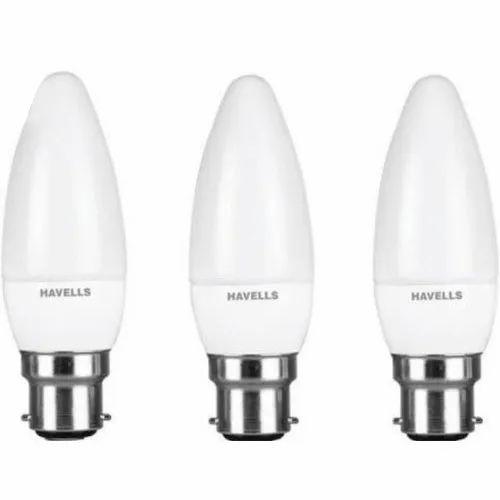 Ceramic 3500-4100 K 3W Havells LED Candle Light, B22