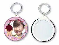 Button Badge (Mirror Keyring)