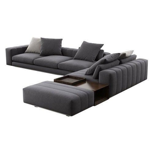 Designer Grey L Shape Sofa Set