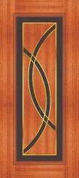 Almightydoors Brown Stylish Brass Inlay Door, Size/Dimension: 81