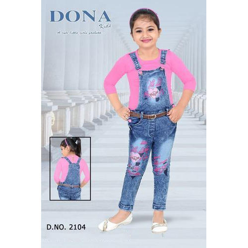 fine quality matching in colour new release Kids Denim Dungaree