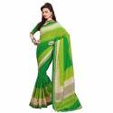 Rcpc Designer Amusing Bhagalpuri Green Saree