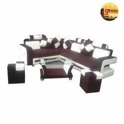 Velvet Plain Sofa Set