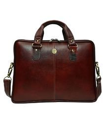 Brown Family Leather Laptop Office Bag