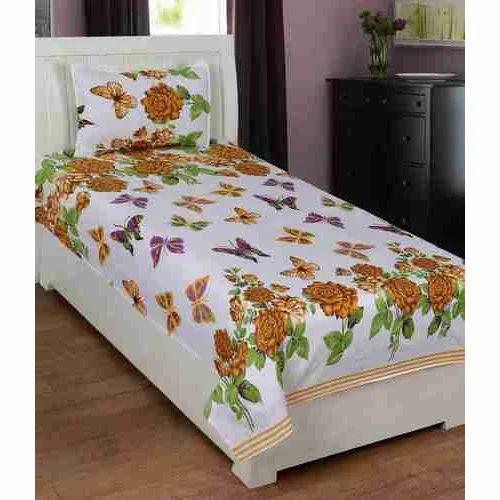 Cotton Single Bed Sheet Set